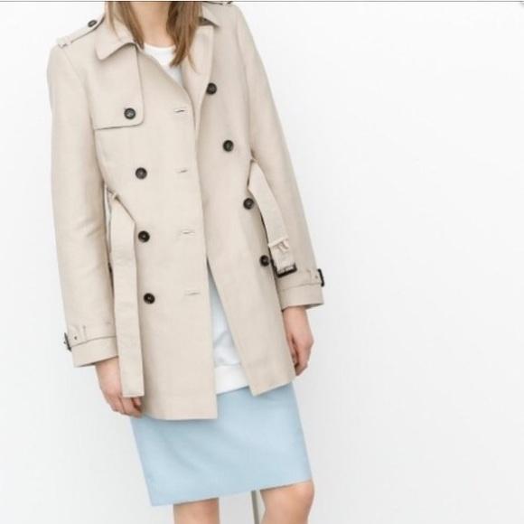 d804031d Zara short trench coat - sz M. M_5a47c83bc9fcdf00cf15c8a8